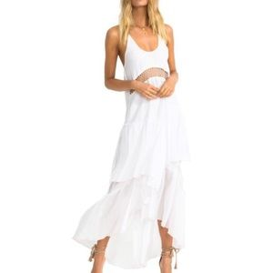Suboo closer frill maxi dress